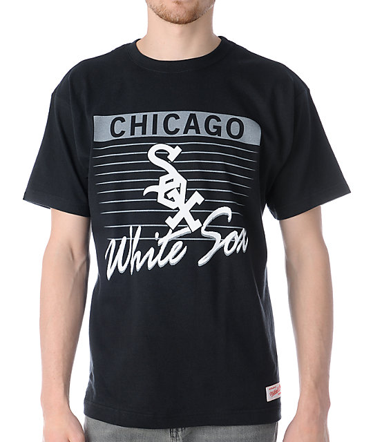 MLB Mitchell and Ness Chicago White Sox Strikeout Black T-Shirt