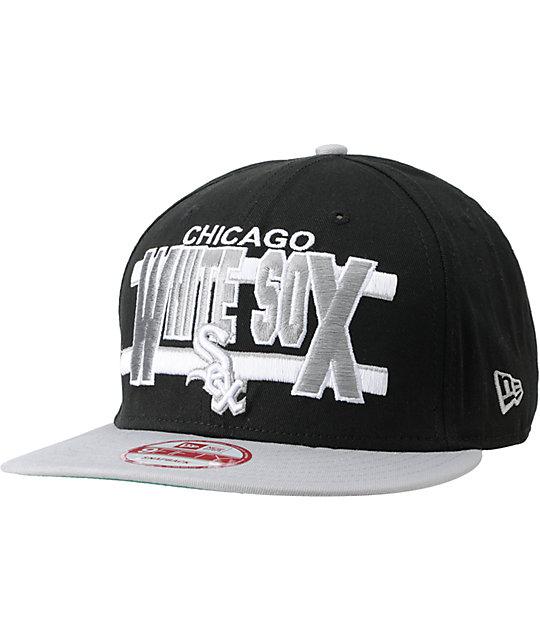 MLB New Era Chicago White Sox Word Stripe Snapback Hat