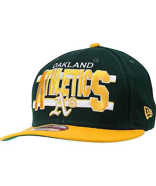 MLB New Era Oakland Athletics Word Stripe Snapback Hat