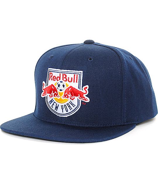 MLS Mitchel and Ness NY Red Bulls Blue Snapback Hat