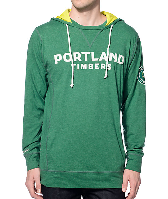 MLS Mitchell and Ness Timbers Away Green Hoodie