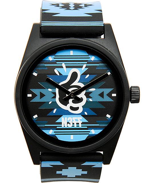 Mac Miller x Neff Daily Maclock Blue Native Print Watch
