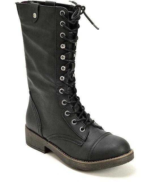 Madden Girl Motorrr Combat Boots
