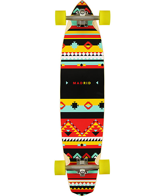 "Madrid Dude Africa 38.75""  Pintail Longboard Complete"