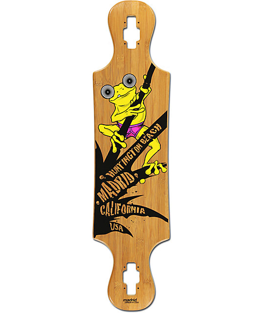 "Madrid Frog Bamboo 37""  Drop Thru Longboard deck"