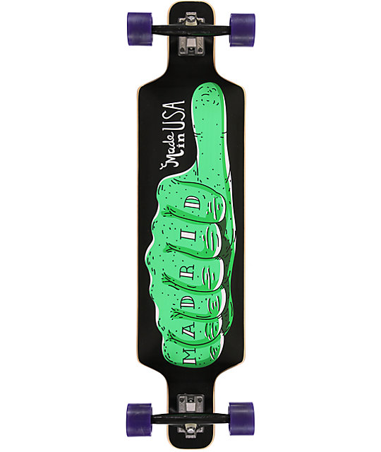 """Madrid Thumbs Up 40""""  Drop Through Longboard Complete"""