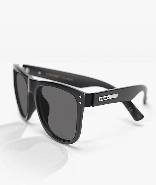 Madson Herren Sonnenbrille Metro Black Matte Sonnenbrille tJvxI