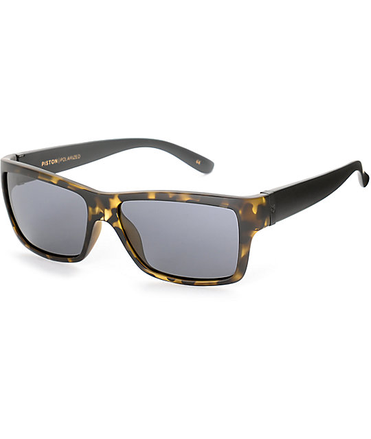 Madson Piston Tortoise Black and Grey Polarized Sunglasses