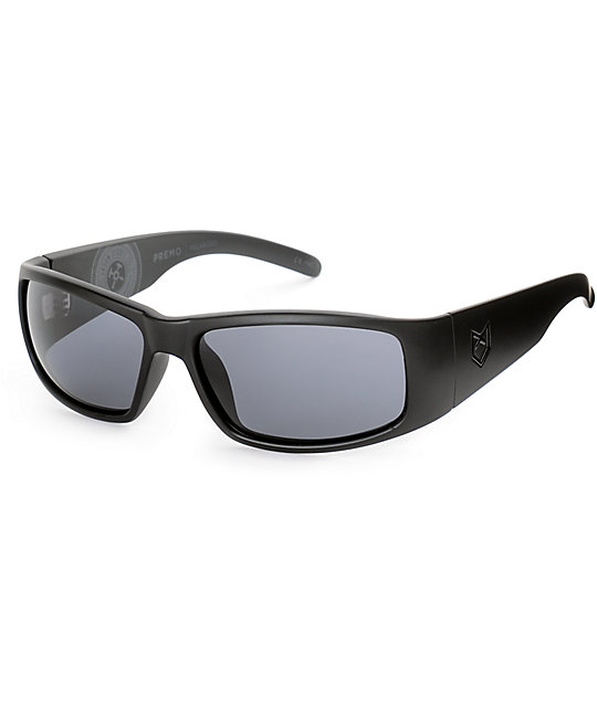 Madson Premo Jason Jesse Black & Grey Polarized Sunglasses