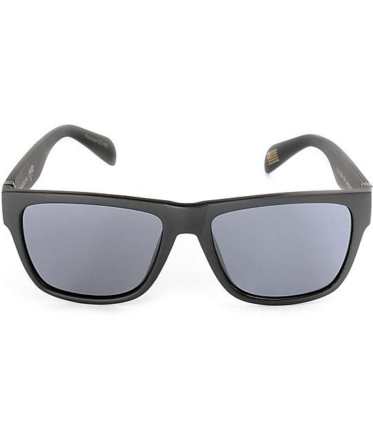 Madson Wisdom Matte Black & Grey Polarized Sunglasses
