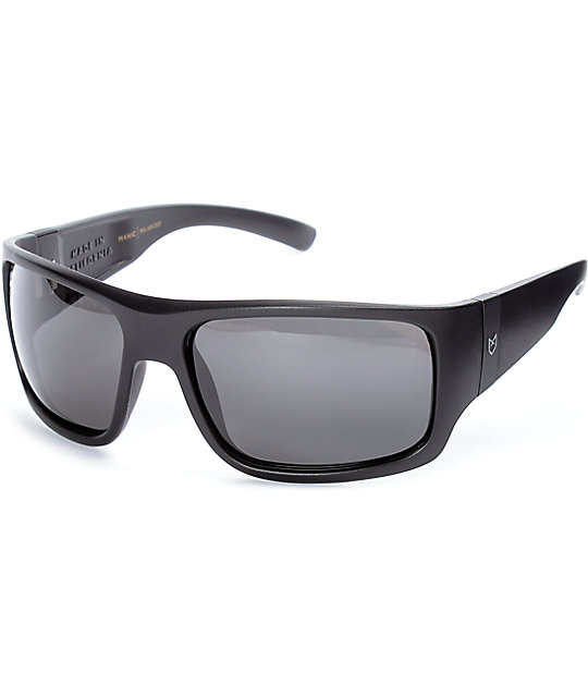 black polarized sunglasses  Madson X Santa Cruz Manic Black Polarized Sunglasses at Zumiez : PDP