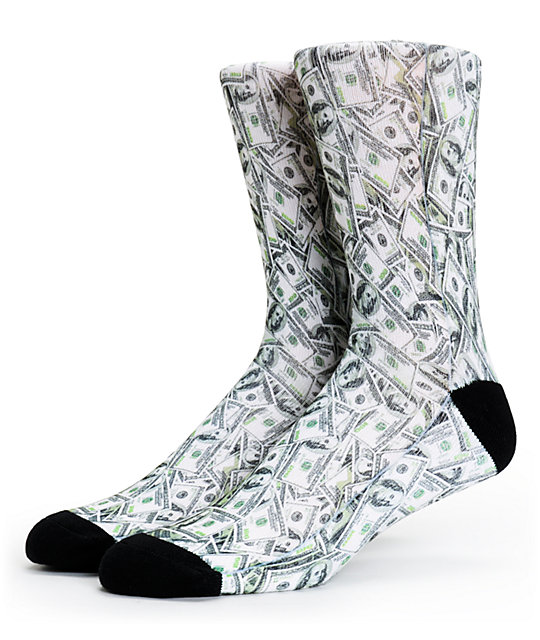 Magnum Money Print Sublimated Crew Socks