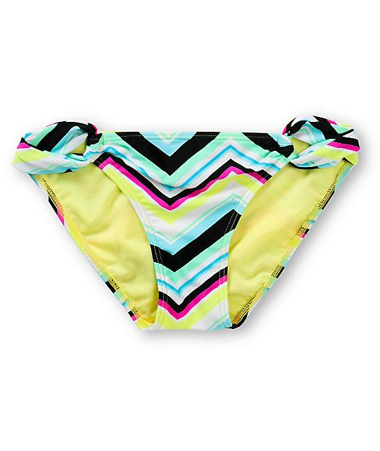 Malibu Chevy Nova Chevron Print Tab Side Bikini Bottom