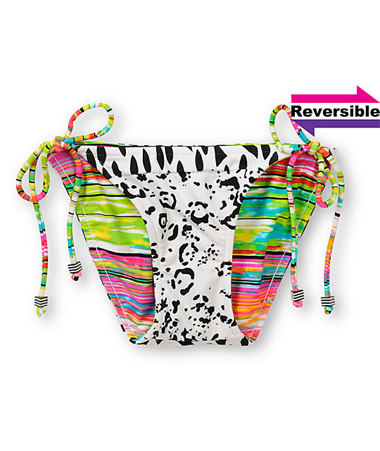Malibu Dream Concrete Jungle Reversible String Bikini Bottom
