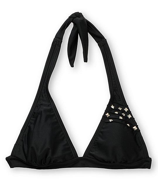 Malibu Dream Girl Black Studded Bikini Top