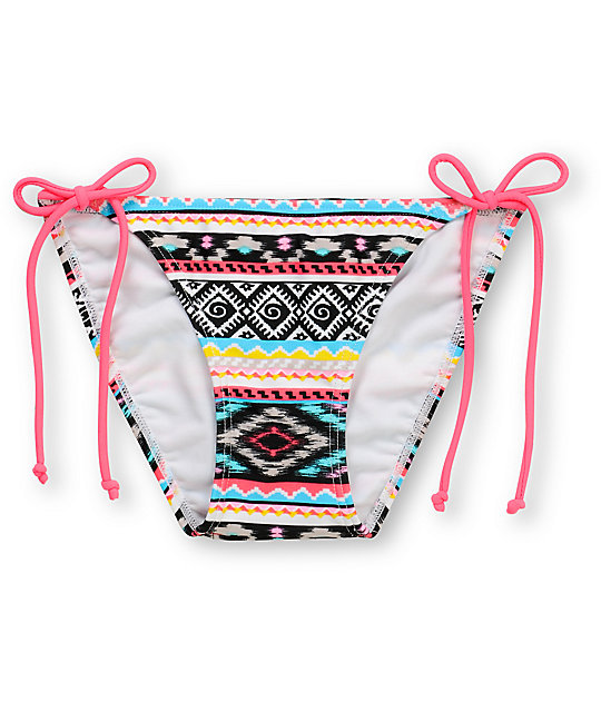 Malibu Dream Head Games Tribal Tie Side Bikini Bottom