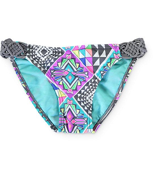 Malibu Geotopia Tab Side Bikini Bottom
