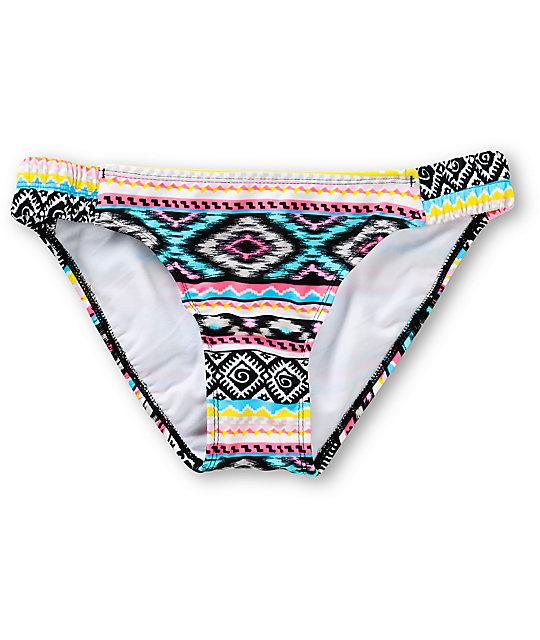 Malibu Head Games Tribal Print Tab Side Bikini Bottom
