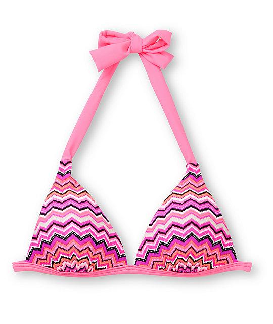 Malibu Miss Interpretation Molded Halter Bikini Top