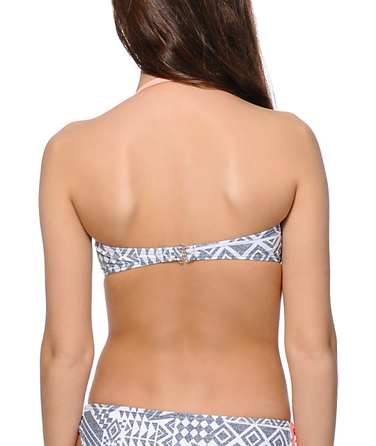 Malibu Shelly Twist Bandeau Bikini Top
