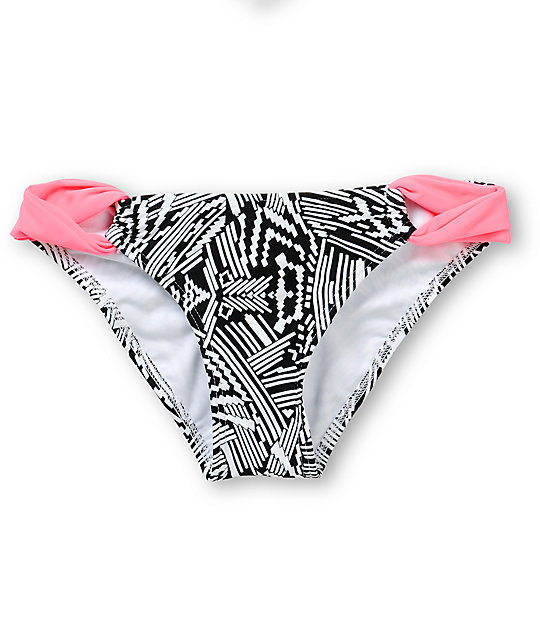 Malibu Summer Solstice Geo Print Bikini Bottom