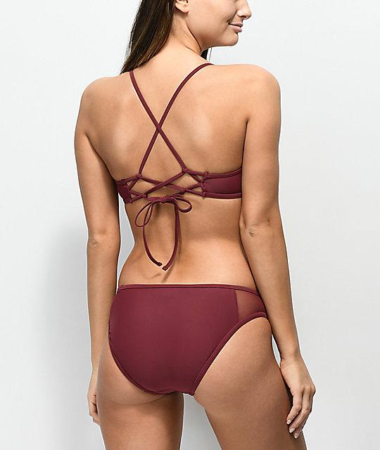 Color Hipster Way Bikini Borgoño Malla Malibu De Braguitas En Out strxhCBQd