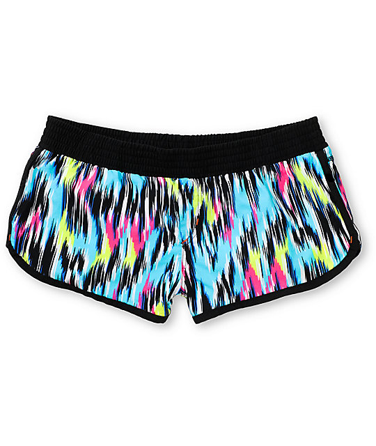 Malibu Wild Child Neon Board Shorts