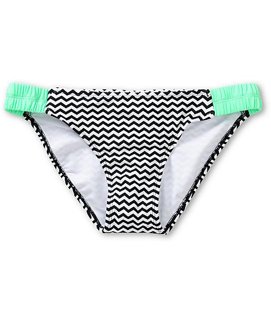 Malibu Zig Zag Chevron Tab Side Bikini Bottom