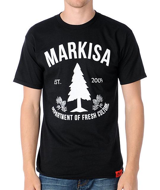 Markisa Fresh Culture Black T-Shirt
