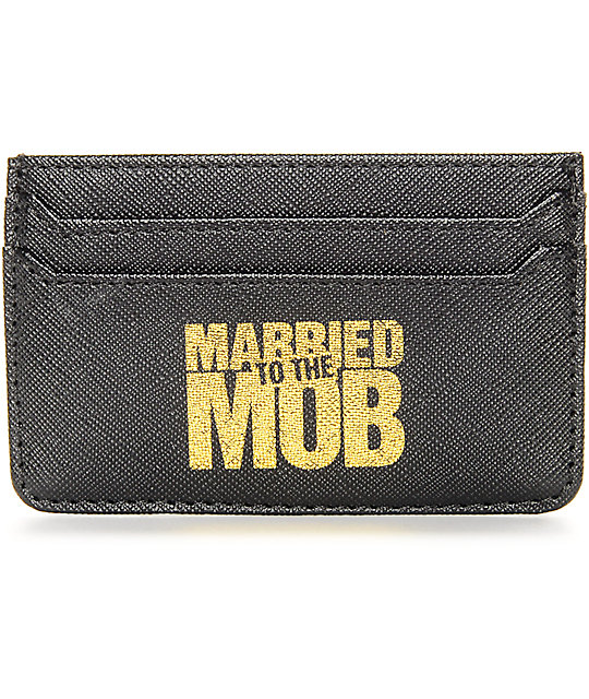 Married To The Mob Ballin' Black Cardholder