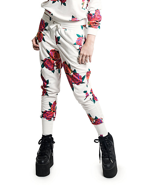 Married To The Mob Floral Print Jogger Pants