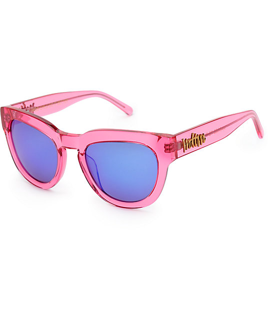 Married To The Mob Kiki Crystal Pink Sunglasses