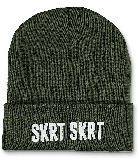 Married To The Mob SKRT SKRT Olive Beanie
