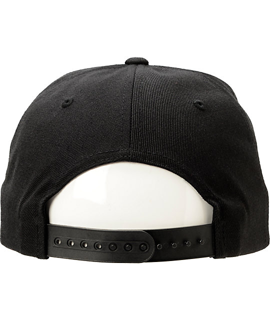 Married To The Mob Yin Yang Black Snapback Hat