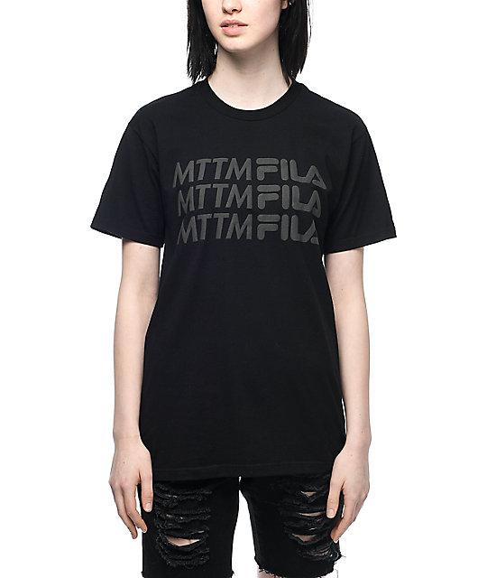 Married To The Mob x FILA Logo Black T-Shirt