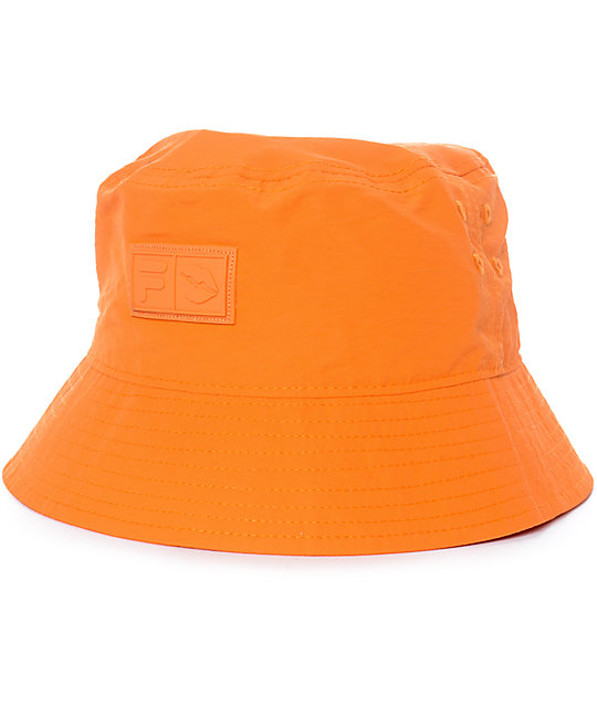 Married To The Mob x FILA Player Orange Bucket Hat