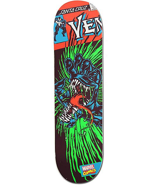 Marvel X Santa Cruz Venom Hand 8 375 Quot Skateboard Deck At