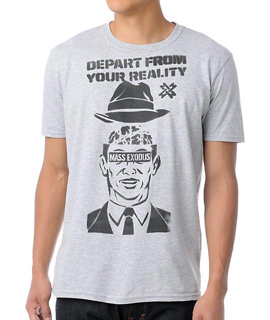 Mass Exodus Madman Stencil Grey T-Shirt
