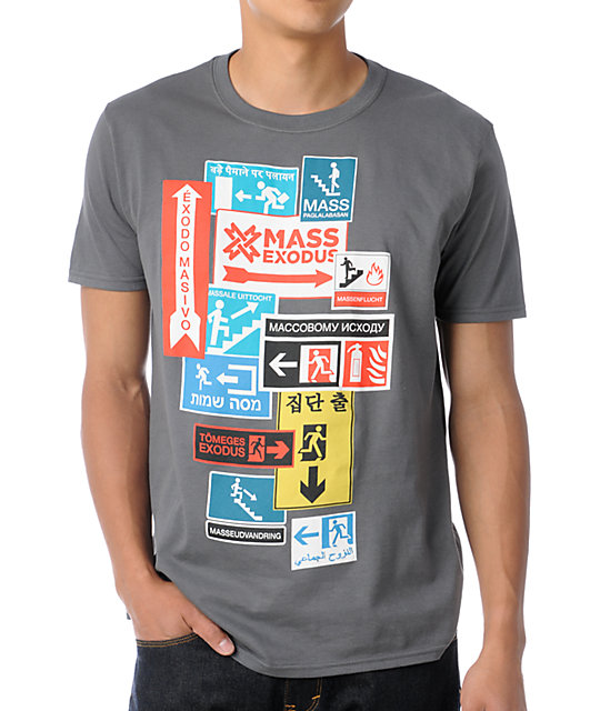 Mass Exodus Stage Left Grey T-Shirt