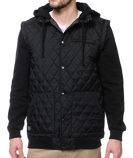 Matix Asher Borough Black Vest Hoodie