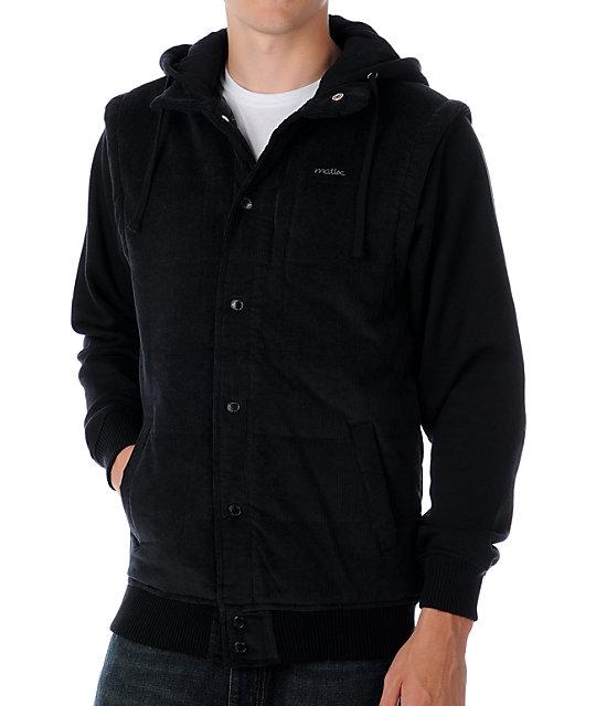 Matix Brough Gunmetal Cord Vest Hoodie