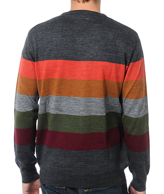 Matix Burbank Black Striped Crew Neck Sweater