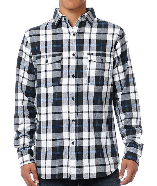 Matix clientel black white plaid flannel shirt at zumiez for White and black flannel shirt womens