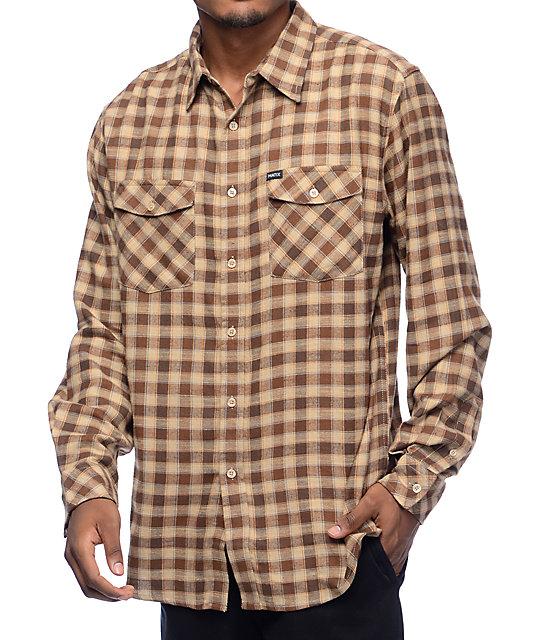 Matix Corbis Rubble Brown Flannel Shirt