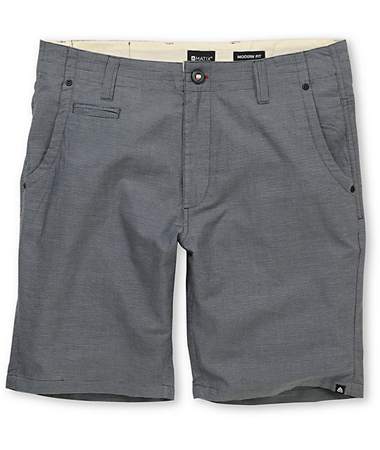 Matix Diabolo Charcoal Striped Chino Shorts