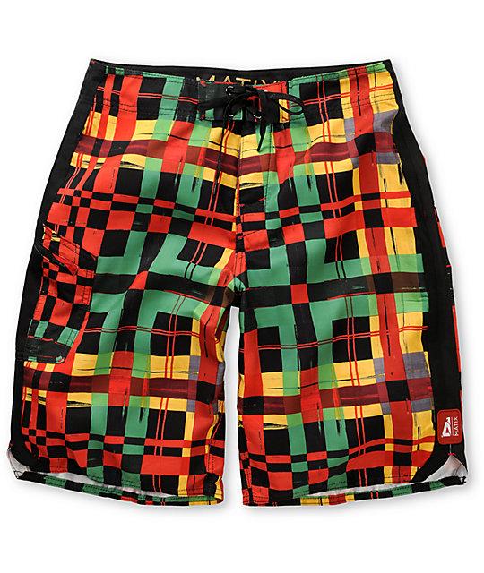 Matix Dingdong Black Rasta Board Shorts
