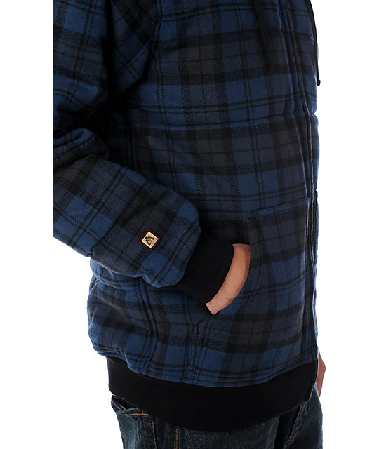Matix Flasher Black Plaid Asher Hoodie