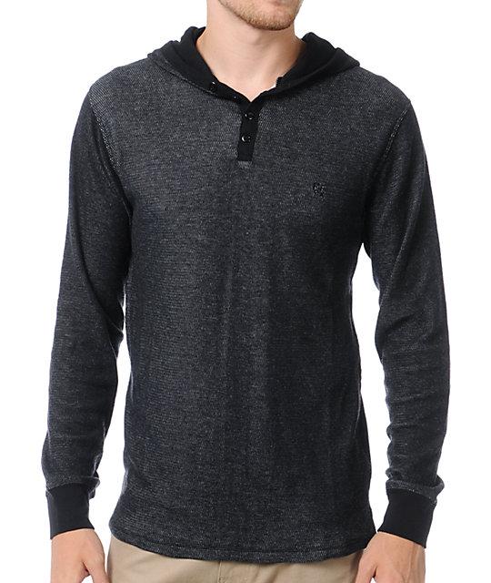 Matix gettysburg black long sleeve henley shirt at zumiez for Black long sleeve henley shirt