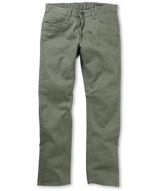 Matix Gripper Army Green Twill Slim Pants
