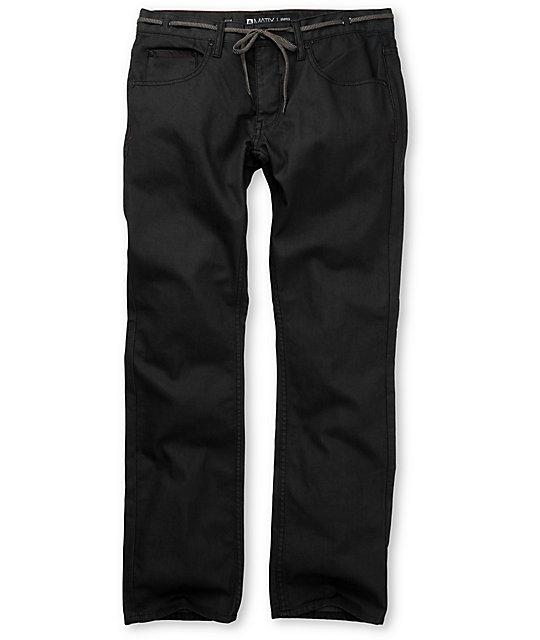 Matix Gripper Black Waxed Skinny Jeans